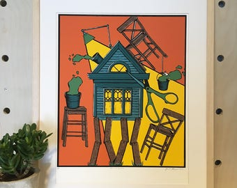Arts and Crafts Print - Hand Pulled Screen Print