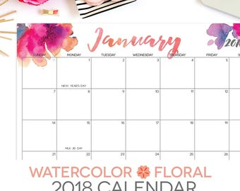 2018 printable calendars by month