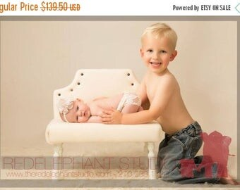 SUMMER SALE Newborn Baby Photography Prop Upholstered Bed or Bench