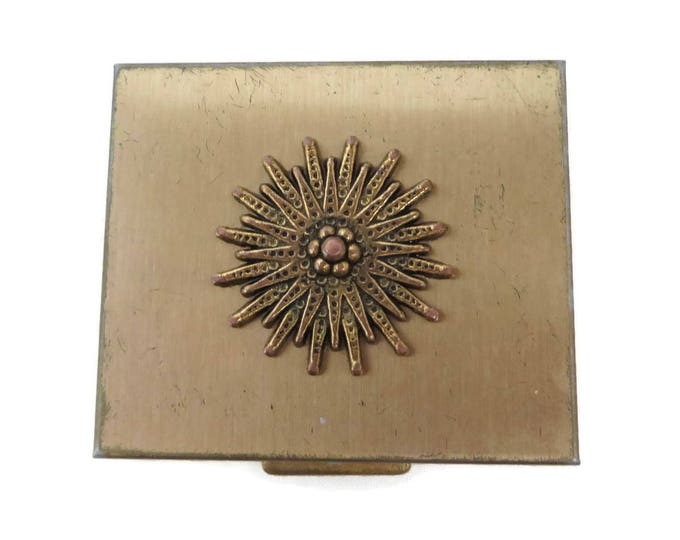 Vintage Petty Cash Compact - Women's Gold Tone Change Box, Collectors Compact, 1960s Coin Compact