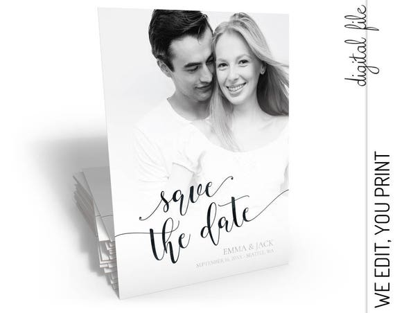 Save the Date | Photo Save the Date | Save the Date Card | Printable Save the Date Card | Picture Save the Date | Simple Save the Date