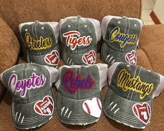 Baseball cap, Softball cap, football cap, volleyball cap,  football mom, softball mom,  trucker hat, mesh hat,baseball, baseball mom