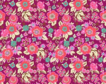 Grand Bouquet in Plum by Amy Butler from the Soul Mate collection for Free Spirit #CPAB001.8Plum by 1/2 yard