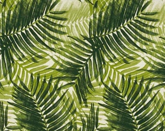 Palm Upholstery Fabric, Green Palm Fronds Indoor/Outdoor Tropical Fabric, Tropical Outdoor Pillow Cover Fabric, Palms Fabric By The 1/2 Yar