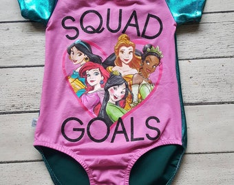 Reduced  Girls size 12 Upcycled Leotard. Princesses