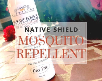MOSQUITO REPELLENT Native Shield || Deet Free || deter biting insects || made of plants || bug spray || no synthetics