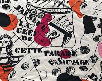 Fernand Leger Fabric Parade Sauvage Modern Master Original Fuller Fabrics