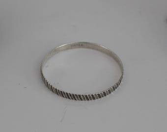 Vintage Danecraft Sterling Bangle Felch Danecraft Sterling Silver Bracelet