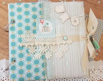 Photo album for baby, Baby album, Scrapbook album, Floral photo album, Handmade album, Album