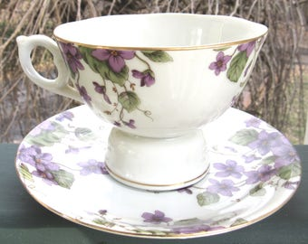 Lefton 1991 Musical Tea Cup & Saucer