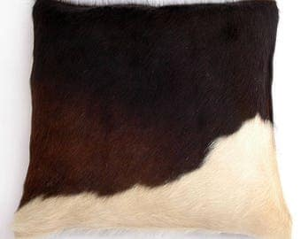 Natural Cowhide Luxurious Hair On Cushion/ Pillow Cover (15''x 15'') A57