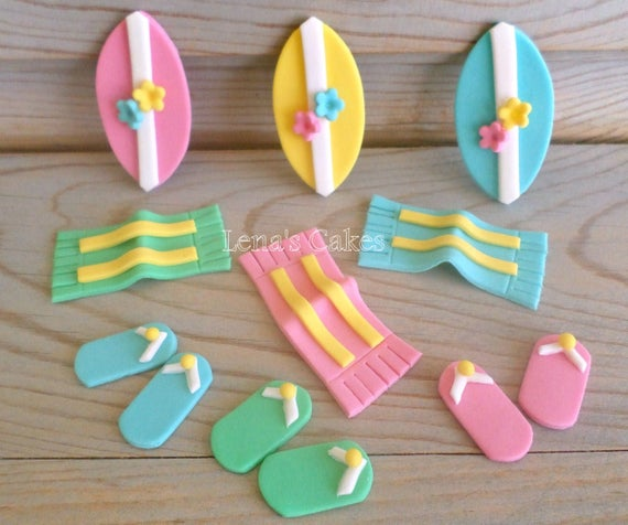 Edible Beach Themed Cake Decorations