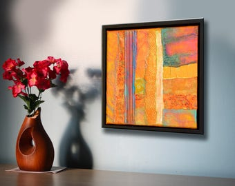 Abstract wall art Abstract home decor Modern acrylic art Framed wall art Square canvas painting  Contemporary art Unique wall art