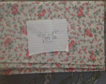 2 yards very lightweight floral calico