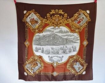 Vintage Souvenir scarf Canary Islands 77cm x 77cm