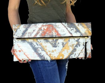 handpainted clutch,foldover clutch,foldover large clutch,painted handbag,handpainted canvas,handpainted envelope clutch,custom canvas clutch