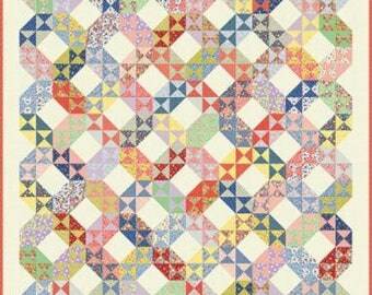 """30's Playtime 2017 Quilt Kit designed by Chloe's Closet for Moda Fabrics, finished size is 66"""" x 78"""""""