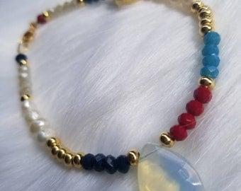 Opal Drop Bracelet