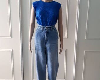 High waisted jeans 1980's vintage jeans 80's mom jeans blue denim jeans 1980's Limited jeans vintage denim jeans USA12 / UK16 (fit UK 10/12)