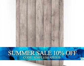 Grey Wood Peel and Stick Fabric Wallpaper Repositionable