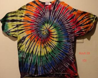 "Adult 2X T-Shirt, ""Rainbow/Black""  (G) and (G2)"