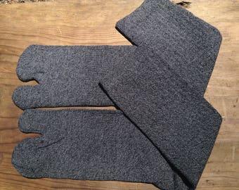 Tabi Split Toe Socks Flip Flop Socks Black&Greymix
