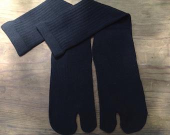 Tabi Split Toe Socks Flip Flop Socks Black