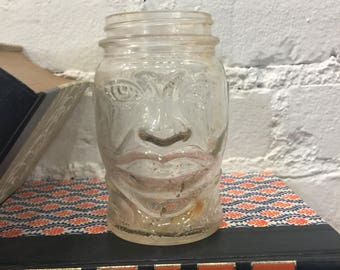 Lucky Joe Louis Glass Jar