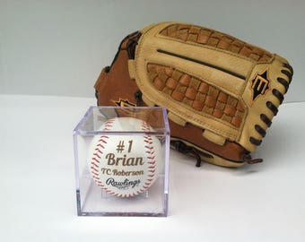 Personalized Engraved Exclusive Groomsman Gift Baseball,Custom Message Baseball,Coach Gift,Display Box.Are you ready for the WEDDING?