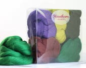 Woodland Wool Bundle - Felting Wool - woodland colours felting wool - mixed woodland wool - textile project - craft gift - merino wool
