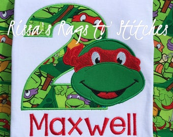 Ninja Turtle Birthday Shirt #1-9