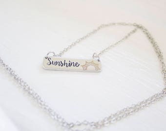 You are My Sunshine Necklace - Hello Sunshine Jewelry - Create your Own Sunshine - Sun Necklace - Sunshine State - Gift for Christmas Gift