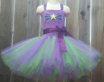 Customizable Mermaid Inspired Tutu Dress, Mermaid Dress, Mermaid Costume, Ariel Costume, Ariel Tutu Dress, Ariel Dress, Mermaid Birthday