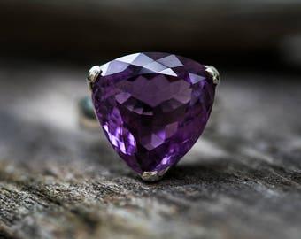 Amethyst Ring 8.5 - Amethyst Ring - Sterling Silver Ring Size 8.5 - Amethyst Ring - Amethyst Ring - Amethyst Ring - Amethyst Ring 8.5