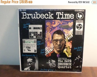 Save 30% Today 1955 Vintage Vinyl LP Record Brubeck Time The Dave Brubeck Quartet 6 Eye Label Very Good Condition 15713