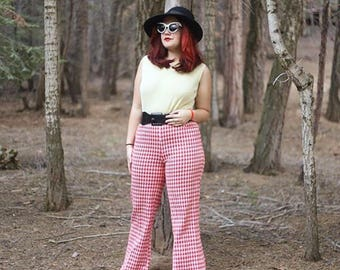 1960s Houndstooth Bellbottoms