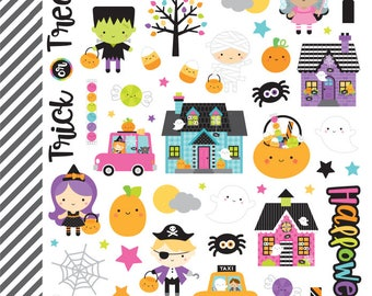 Booville Mini Doodlebug Design stickers/Planners/Calendars/scrapbook/Invitations/Greeting Cards/Holiday / Halloween/