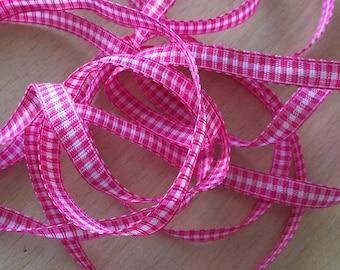 pretty gingham color fuchsia 206 decorative ribbon