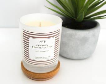 Coconut Wax Candle - No8 Caramel & Butterscotch