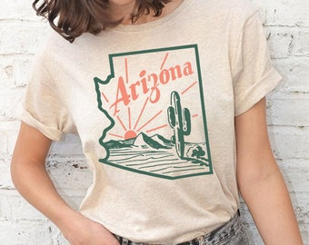 Vintage Style Arizona Tee / arizona gifts t shirt / southwest top
