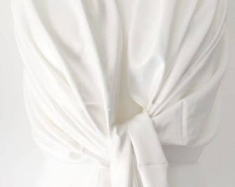 Pure White Pashmina , Ladies Shawl , Large Scarf, White Fair Trade Handwoven Wrap, Bridesmaids Wrap