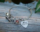 Shih Tzu charm bangle bracelet Perfect gift for women Pretty birthday or Anniversary gift Dog charms Womens bracelets Silver jewelry