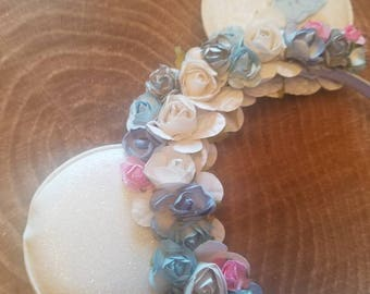 Cinderella inspired Minnie mouse ears. Large ears. Princess Disney accessories. Cinderella headband. Minnie mouse ears. White Minnie ears.