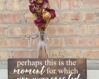 this is the moment for which you were created, bible verse, home decor, nursery, girls room