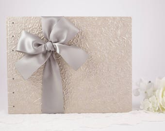 Wedding Guest Book, Taupe Guest Book, Signature Guest Book, Photo Guest Book, Bridal Guest Book, Select Your Pages, Custom Made For You