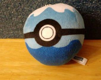 Dive Ball pokemon plush Tomy 3 inch soft