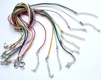 X 10 cords cotton mix colors 43cm