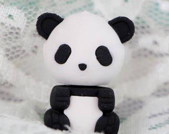 X 1 Eraser panda black and white kawaii