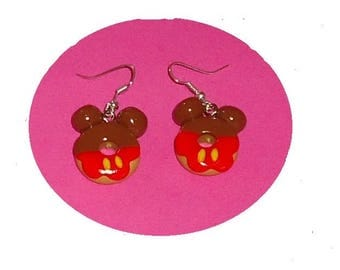 Strawberry and chocolate Donut grout earrings