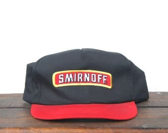 Vintage Smirnoff Vodka Pure Thrill Liquor Alcohol Drinking Snapback Trucker Hat Baseball Cap